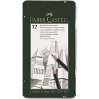 Набор чернографитовых карандашей CASTELL 9000, с грифелями различной твердости.