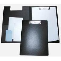 Папка-планшет с зажимом, пластик, черная.