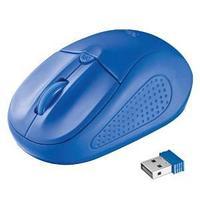 Мышь беспроводная, Trust Primo, синий.