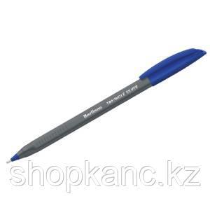 "Ручка шариковая Berlingo ""Triangle Silver"" синяя, 1,0мм, трехгран."