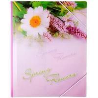 Папка на резинке Spring Flowers, А4, 550 мкм,