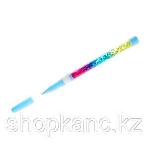 Ручка шариковая 0,7 мм, синие чернила, корпус с блестками Русалки