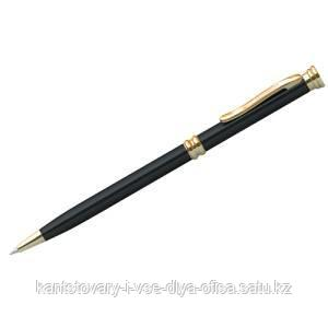 """Ручка шариковая Berlingo """"Golden Luxe"""", синяя, 0,7мм, корпус черный, поворот., инд. упак."""