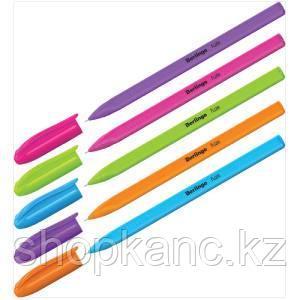 """Ручка шариковая Berlingo """"Triangle Fuze Stick"""", 0,5мм, синяя, корпус ассорти"""