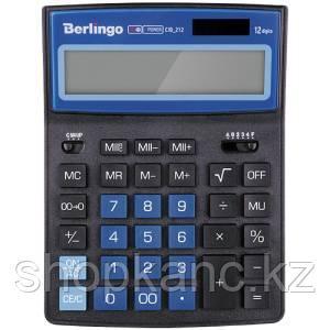Калькулятор настольный Berlingo City Style, 12 разр., двойное питание, 205*155*28, черный/синий