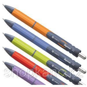 Ручка шариковая автоматическая,Imperia, синий стержень, корпус зеленый, 0,7 мм, грип.