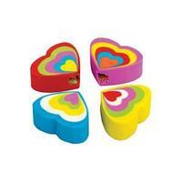 Ластик из синтетического каучука Сердце