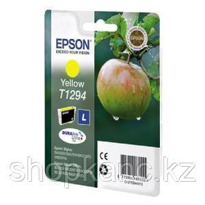 Картридж оригинальный Epson, T1294, жёлтый.