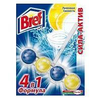 Твердый, подвесной блок для туалета Сила-Актив, 4 в 1, лимонная свежесть
