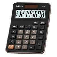 Калькулятор настольный, 8 разрядный CASIO MX-8B-BK-W-EC