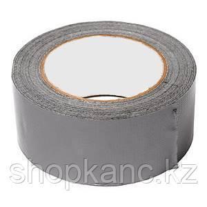 Скотч двухсторонний тканевый PET основа, цвет серый, ширина 50 мм., длина 15 м.