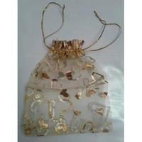 Мешочек для подарков из органзы 13х10см