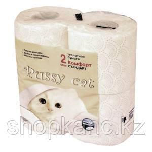 """Туалетная бумага """"Pussy cat"""" Комфорт Стандарт, 2-х сл.,4 рул."""