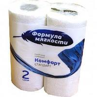 "Бумажное полотенце, ""Формула мягкости"" Комфорт Стандарт, 2 рул в упак."