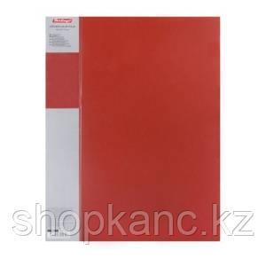 Папка пластиковая Berlingo с металлическим зажимом, 0,7мм, корешок 17мм, красная