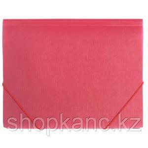 Папка A4 с резинкой непрозрачная красная 0.50 мм Proff. Fibre Collection.
