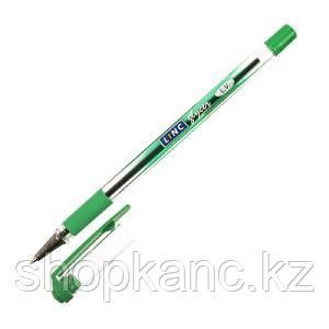 Ручка шариковая LINC Glycer 0,7 мм зеленая резиновый грип