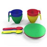 Набор посуды  из пластика 13 предметов, цвет ассорти