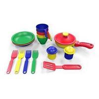 Набор посуды  из пластика 16 предметов, цвет ассорти