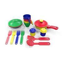 Набор посуды  из пластика 17 предметов, цвет ассорти