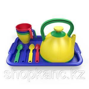 Набор посуды  из пластика 10 предметов, цвет ассорти