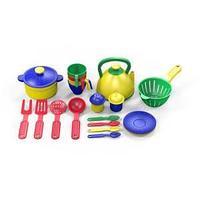 Набор посуды  из пластика 21 предметов, цвет ассорти