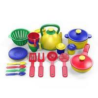 Набор посуды  из пластика 22 предметов, цвет ассорти