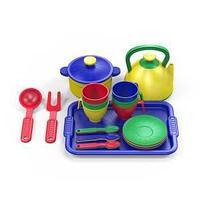 Набор посуды  из пластика 23 предметов, цвет ассорти