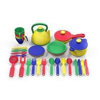 Набор посуды  из пластика 33 предметов, цвет ассорти