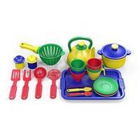 Набор посуды  из пластика 28 предметов, цвет ассорти