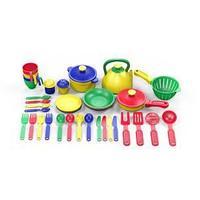 Набор посуды  из пластика 38 предметов, цвет ассорти