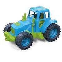 Трактор без ковшей 21см. (зелено-голубой) в коробке