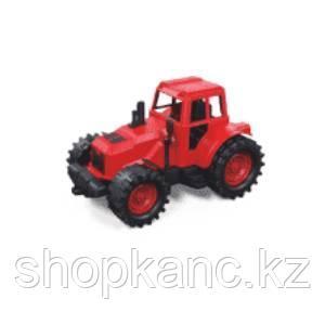 Трактор без ковшей 21см (красно-черный)  в коробке