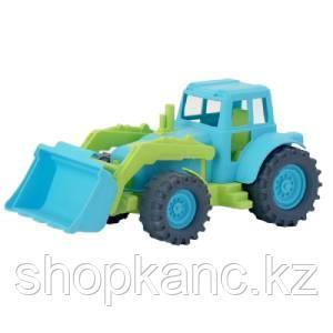Трактор передний ковш 26см. (зелено-голубой) в коробке