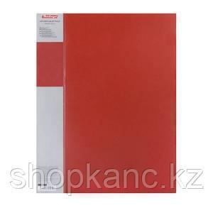 Папка с зажимом Standard, 17 мм, 700 мкм, цвет красный.