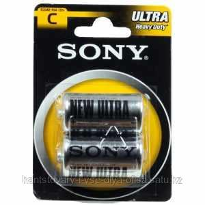 Батарейки Sony, C, R14, 2 шт.