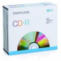 Диски MEMOREX CD-R, slim.