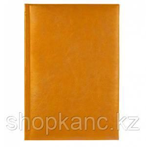 Ежедневник 2021 Sigma A5 оранжевый, 352 стр., карта мира