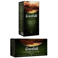 Чай Greenfield, Golden Ceylon, черный, 2 гр х 25 пакетов.