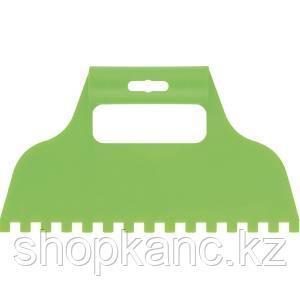 Шпатель для клея, пластмассовый, зубчатый 8х8 мм