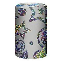 Новогодняя упаковочная металлизированная бумага, рулон 70*150см