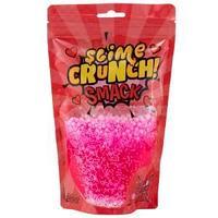 "Слайм Slime Crunch-slime ""Smack"", розовый, с пенопласт.шариками, с ароматом земляники, 200г, дой-пак"