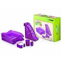 Настольный набор СОЧНЫЙ ОФИС №2,НН23,  фиолетовый Слива  (6 предметов)