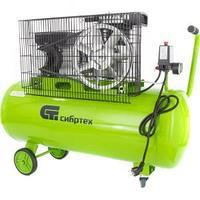 Компрессор воздушный КР-2200/100, 2,2 кВт, 350 л/мин, 100 л, ременной привод, масляный