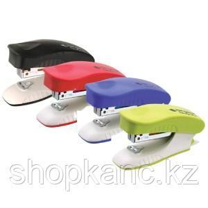 "Мини-степлер №10 Kangaro ""Trendy-10M"" до 10л., пластиковый корпус, ассорти"