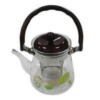 Чайник заварочный с фильтром, термостойкое стекло 750 мл.