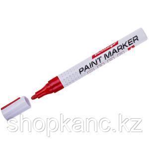 Маркер-краска красная, 4 мм, нитро-основа.