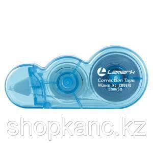 Корректирующая лента Wave 5 мм x 6 м, голубой корпус, эконом.упак.