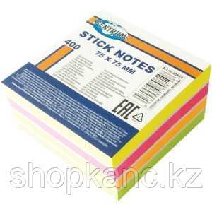 Стикеры бумажные, 75х75мм, 400 листов, 5 цветов