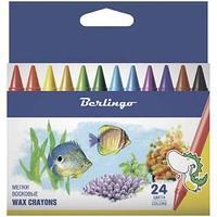 Мелки восковые, Рыбки,  24 цвета.